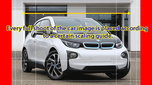 vehicle photo editing and scaling