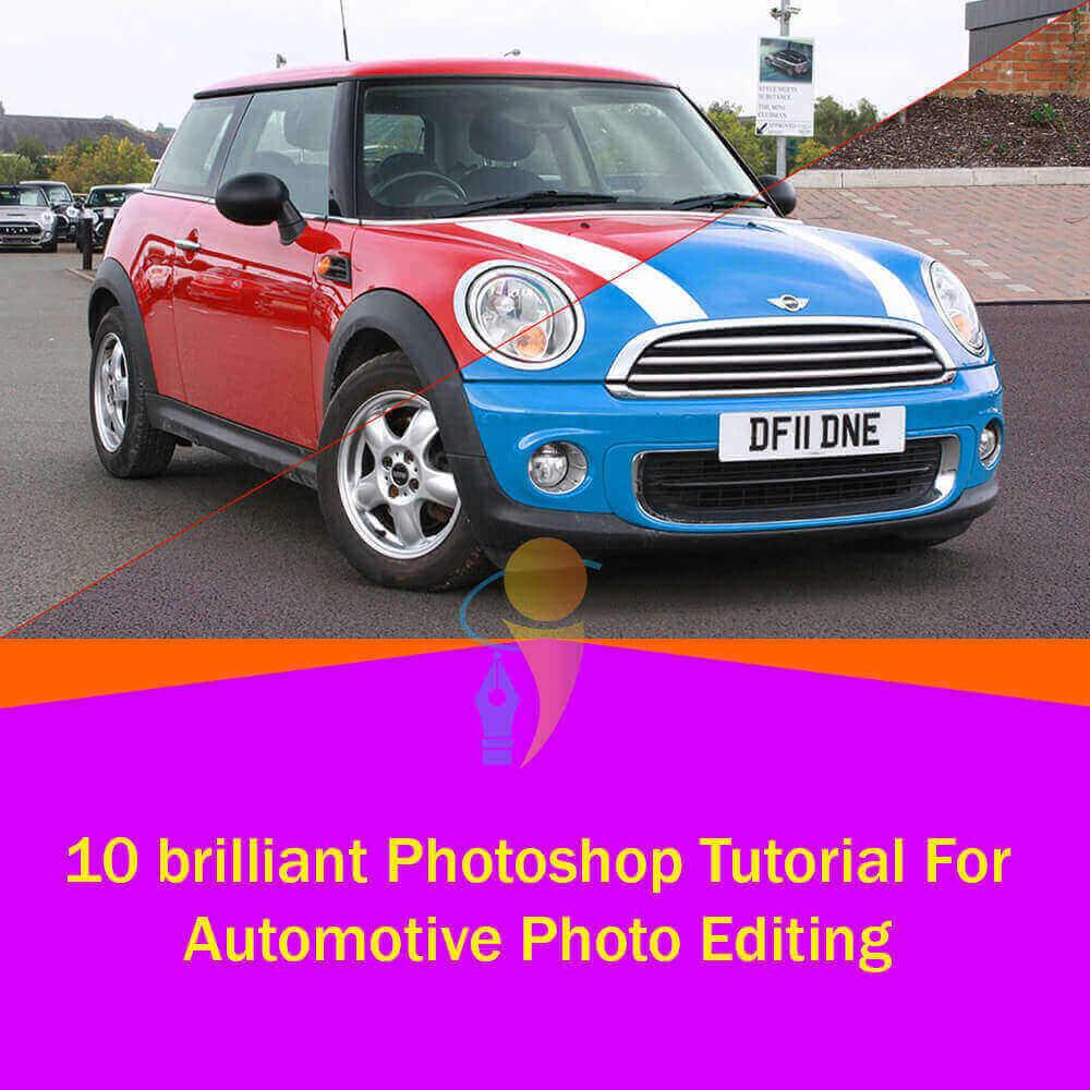 brilliant photoshop tutorial for automotive photo editing