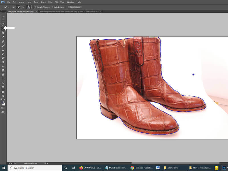 transparent background in photoshop