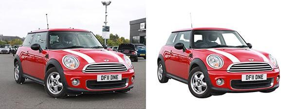 automotive clipping path photo editing
