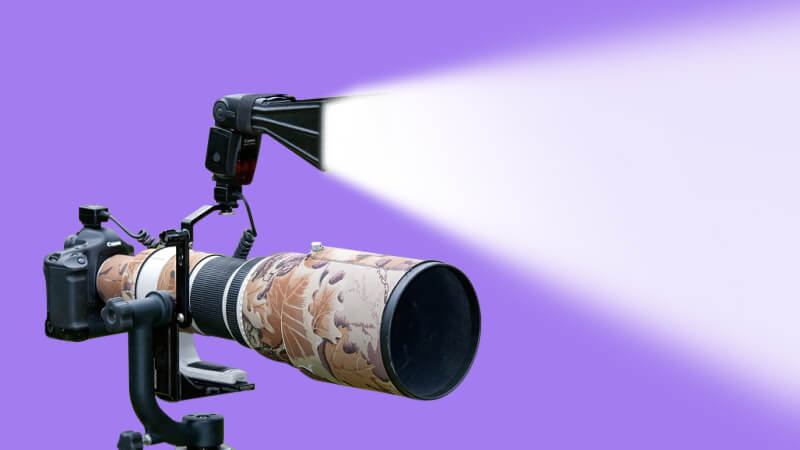 Be careful on-camera flash